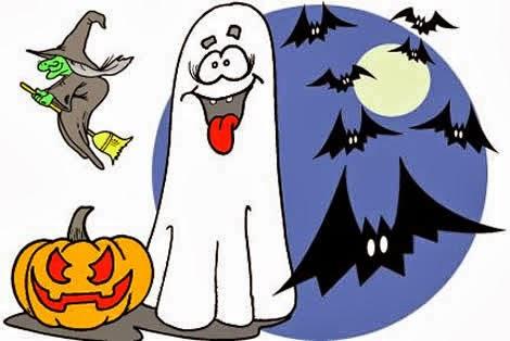 Dibujos De Halloween Color 02 Calabaza Bruja Fantasma Murcielagos