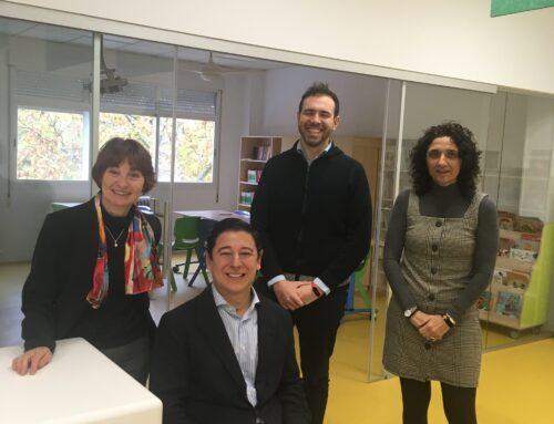 El concejal Borja Fanjul visita el colegio